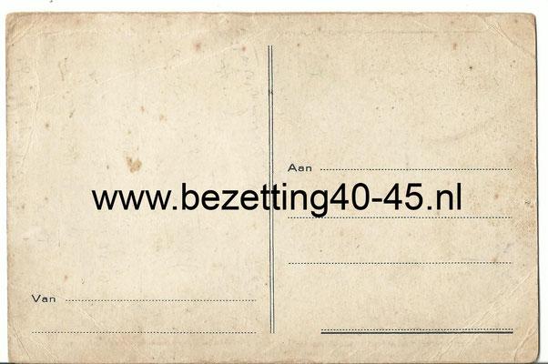 NSB Briefkaart Prent Mussert 1935 -  Maarten Meuldijk