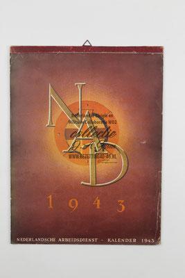 Nederlandse Arbeidsdienst NAD Kalender 1943.