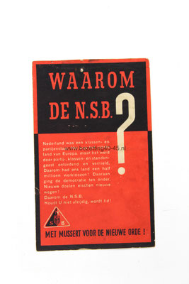 NSB propaganda sticker.