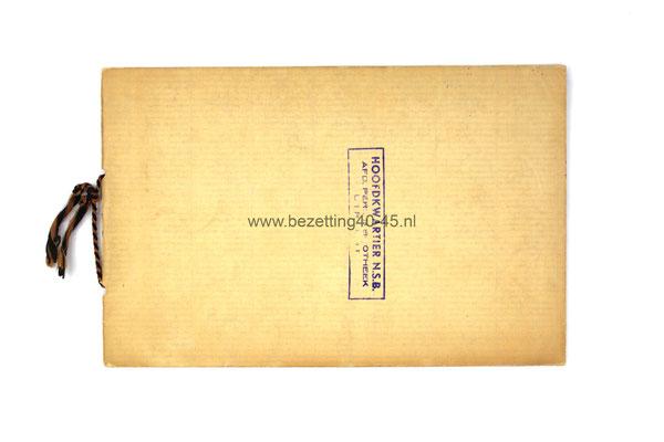 NSB Geïllustreerd Album ter herinnering aan den Gewestelijken Landdag 1934.