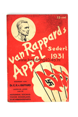 "Brochure ""Van Rappard´s Appèl"",  E.H. van Rappard sedert  1931."