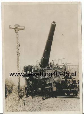 Pressefotos Third Reich Eisenbahn Artillerie-Eisenbahn-Batterie 17 cm 1.1