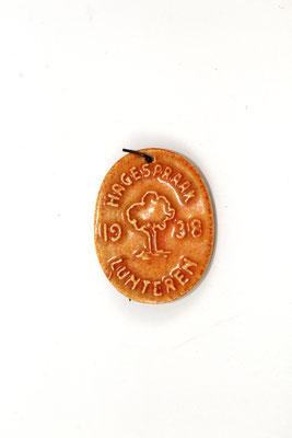 Herinnering speld/hanger van de grote bijeenkomst NSB Hagespraak 1938.
