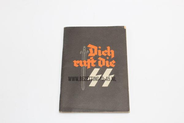 """SS werving brochure """"Dich Ruft die SS"""" vrijwillige aanmelding bij de Waffen SS /  """"Dich ruft Die SS"""" Waffen-SS Recruiting Booklet with Vet Provenance DUTCH SS FOREIGN LEGION"""