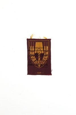 Pet embleem Nederlandse arbeidsdienst - Dutch Labour Service - Cap badge NAD - ICK DIEN.