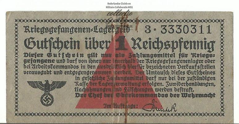 kriegsgefangenenlagergeld 1 Reichspfennig.