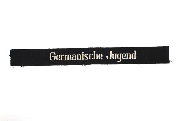 """Mouwband """" Germanische Jugend"""" (hitlerjugend Nederland) Jeugdstorm-Hitlerjugend-HJ-Reichsschule-Valkenburg"""