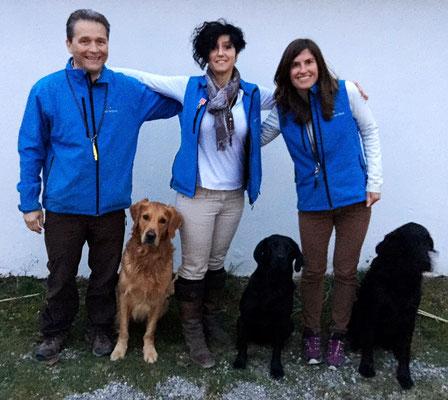 Das Siegerteam: Ueli mit Noshy, Silvana mit Aragon und ich mit Chaplin