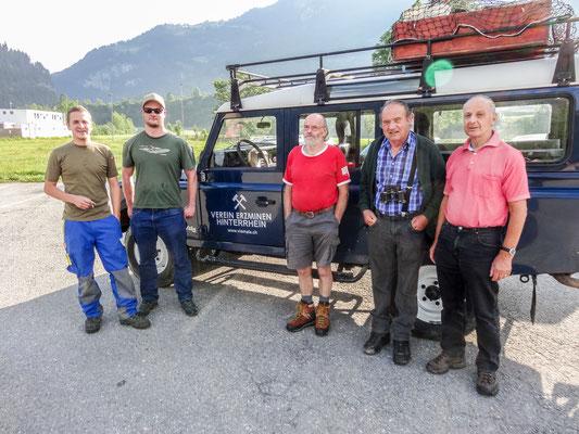 Ziel ist heute Alp Taspegn oberhalb von Zillis (Foto: Bruno Riedhauser)