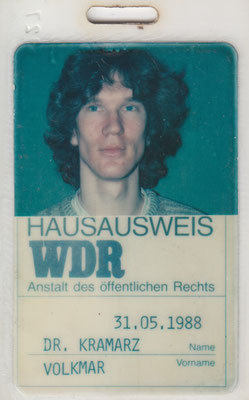 Hausausweis WDR