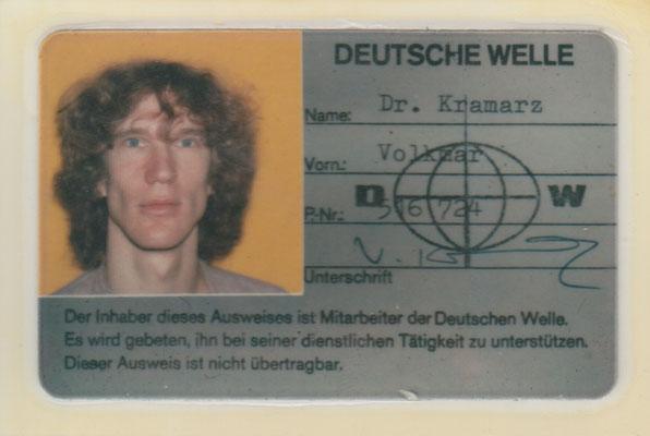Hausausweis Deutsche Welle