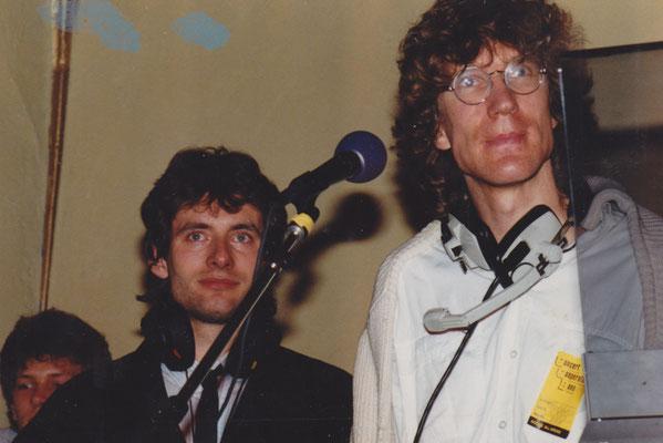 Live-Event im Alten Wartesaal 1984 (l.: Gregor König)