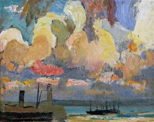 Richard Hayley Lever  'Sunset over St Ives Bay'