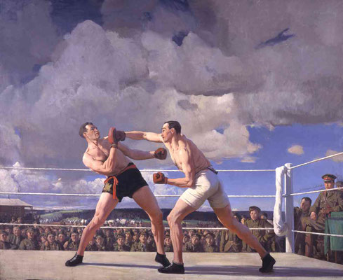 Laura Knight  'Physical Training Camp : Boxing'  (Canada War Museum)