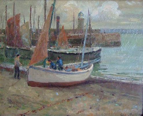 Charles Bryant  'Just Landed, St Ives Harbour'