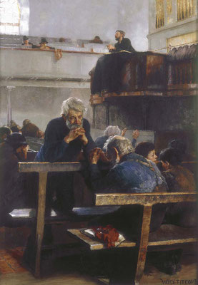 William Titcomb  'Primitive Methodists at Prayer, St Ives'  (Dudley Art Gallery)