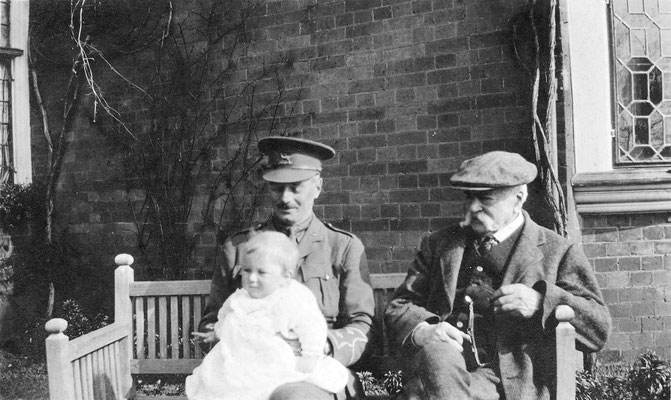 Bengy Leader with his father and son in 1916