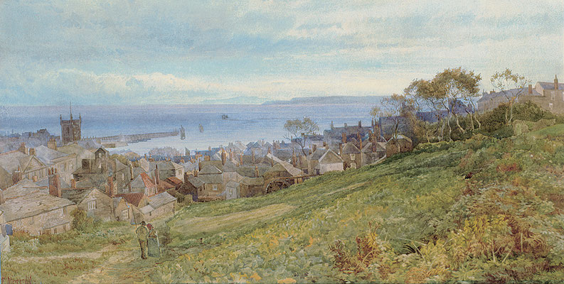 Frederick Mercer  'St Ives from Tregenna'  (1876)