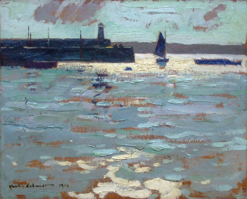Karl Schmidt  'Reflections, St Ives' (1913)