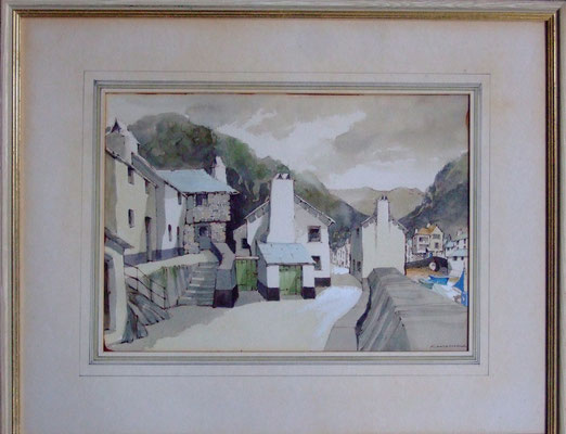 Frederick Cook  'The Smuggler's Cottage and The Three Pilchards Inn, Polperro'