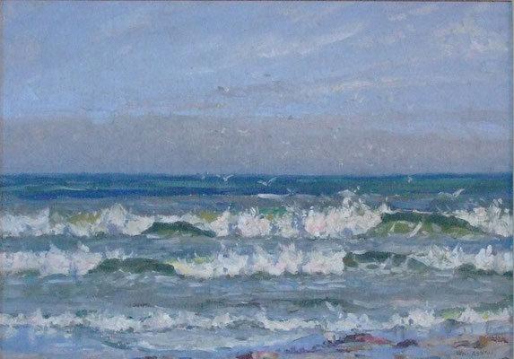 Sir William Ashton  'Waves breaking on the shore'