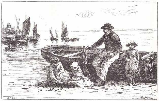 Edith Hume  'Preparing Tackle'  (RA 1885)