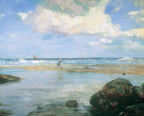 Howard Russell Butler  'Gone - on a St Ives beach'  (National Arts Club, New York)