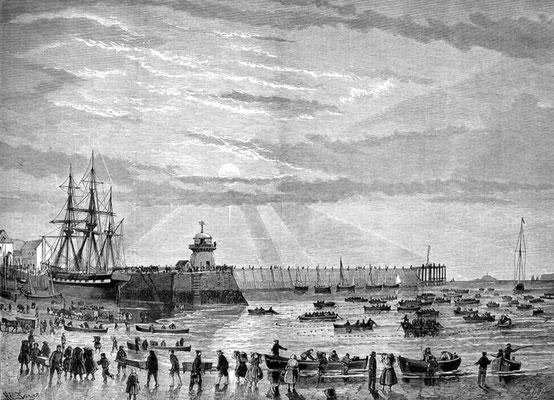 Henry Tozer  'The pilchard harvest at St Ives' 1875