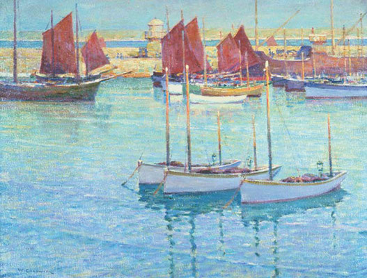 William Chadwick  'Red Sails, St Ives'