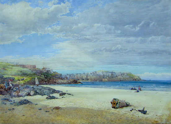 George Wolfe  'St Ives from Porthminster Beach'