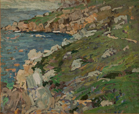 George Oberteuffer  'Tregurthen Cliff, St Ives'  (Issue 6)