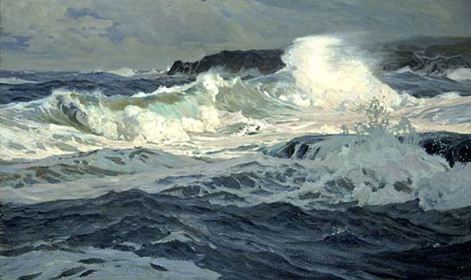 Frederick Waugh  'Southwesterly Gale, St Ives'  (Smithsonian Institution, Washington DC)
