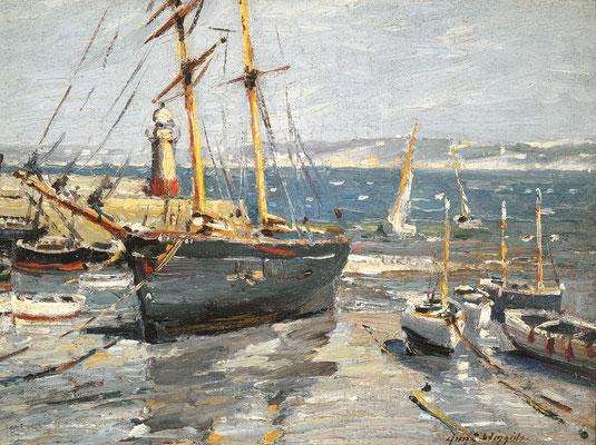 Guy Wiggins  'Fresh Breezes, St Ives' (1914)