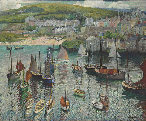 Richard Hayley Lever  'Mid-day in the Harbor, St Ives' (1927)