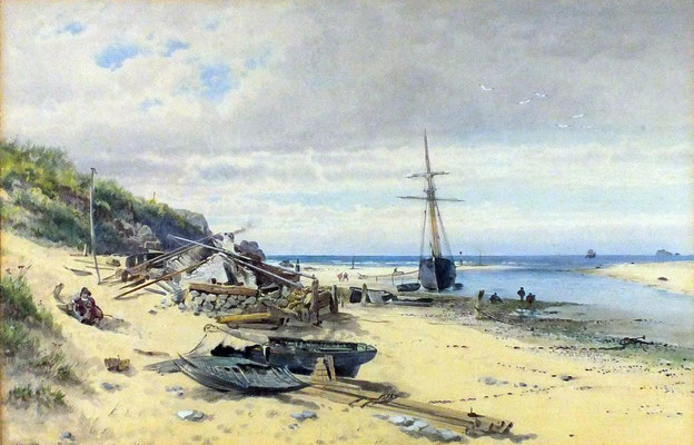 George Wolfe  'Lelant Ferry House, Hayle Sands'  (1861)