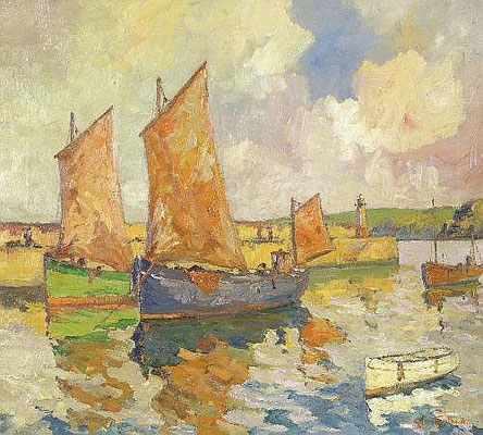 George Turland Goosey  'St Ives Harbour'