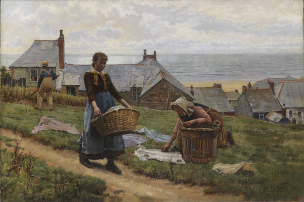 William Bartlett  'It's a bad wind for fish but a good wind for drying' (RA 1884)