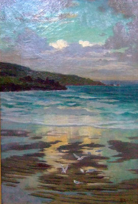 Beatrice Bright  'Sunset, Porthmeor Beach, St Ives'