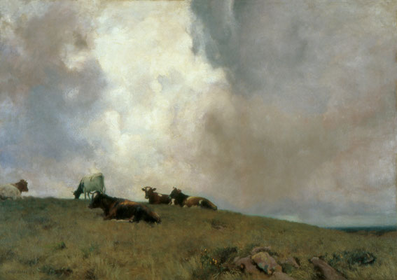 Adrian Stokes  'Upland and Sky'  (RA 1888, Chantrey Trustees purchase)  (Tate Gallery)