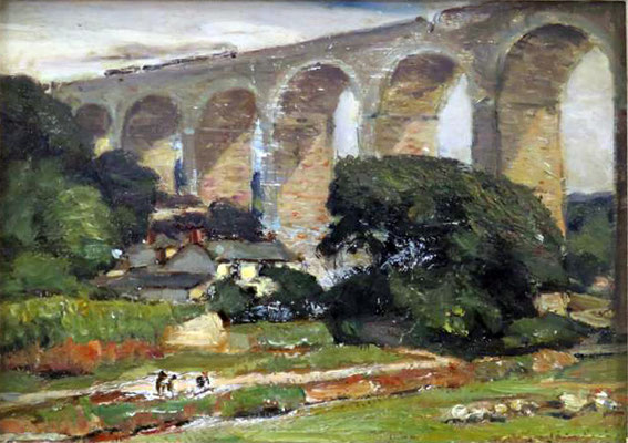 George Gardner Symons  'Railway Viaduct, Angarrack, Cornwall'