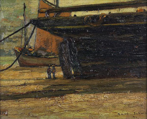 Karl Schmidt  'At Very Low Tide, St Ives' (1914)