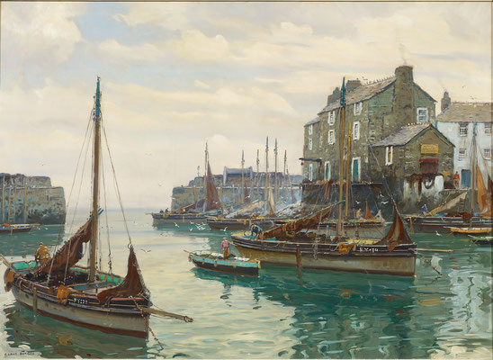 Claus Bergen  'Im Fischerdorf'  (In the Fishermen's Village - Polperro)  (Issue 10)
