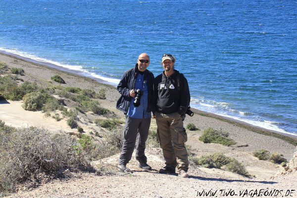 OLAF & RENE AUS CHILE BEIM WHALE-WATCHING