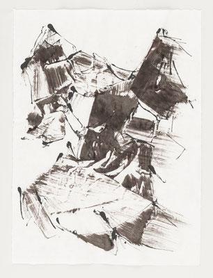 Robert Zandvliet: CM 43/17 - Tusche und Eitempera auf Sumi-e Papier (verkauft)