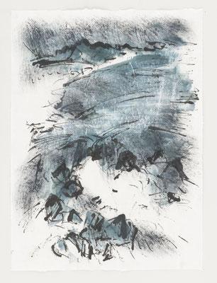 Robert Zandvliet: CM 7/17 - Tusche und Eitempera auf Sumi-e Papier (verkauft)