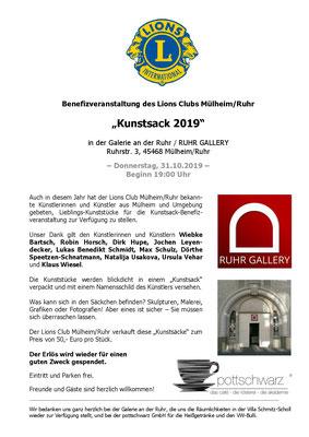 "Lions Club Mülheim ""KUNSTSACK 2019"""