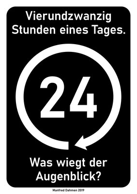 24 - Werkreihe von Manfred Dahmen 2019 - Plakatgestaltung Klaus Wiesel, Mülheimer Künstlerbund MKB
