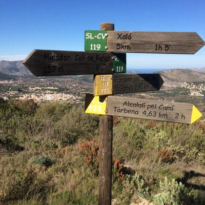 Vele verschillende wandelroutes van uiteenlopende niveaus