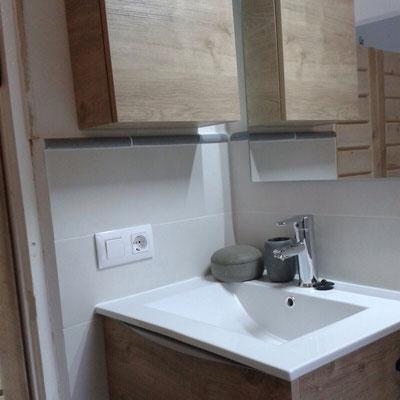 De badkamer in de Casita is klaar voor gebruik