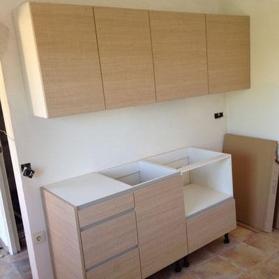 Het keukenblok is geplaatst